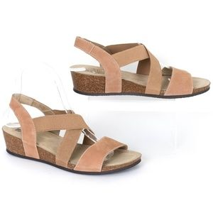 "White Mountain ""Carlisa"" Brown Leather Sandals SH"